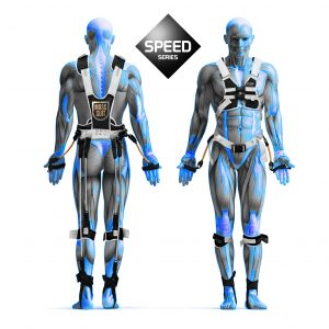 Speed series black and blue muscle man