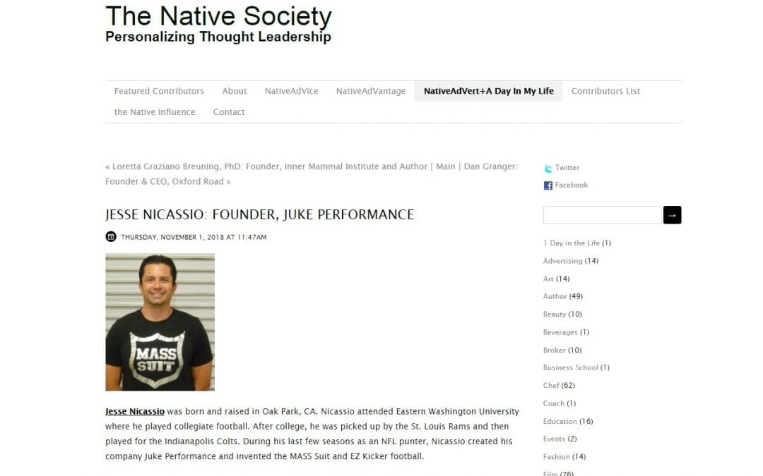 Jesse Nicassio: Founder, Juke Performance